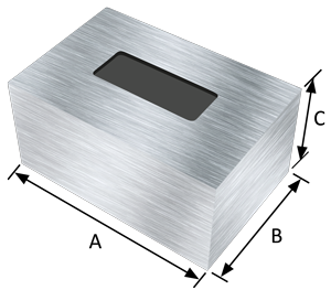 Rectangular EMI-shielding housings (height 5 to 50mm)