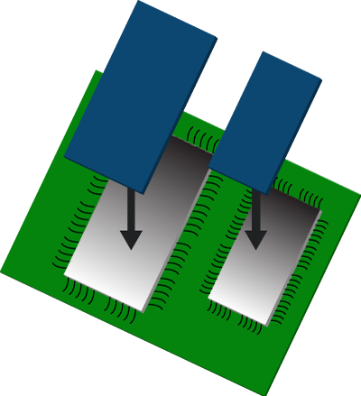 Example 3: Aplpy to a integrated circuit (IC) top