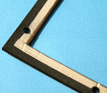 EMC/IP gasket with highly conductive textile