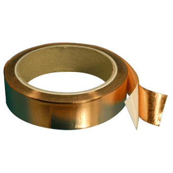 3201-10-0.035 mm thick Copper tape with conductive adhesive 10 mm width, 16.5 meters length