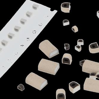 PCB-Abschirmdichtungen aus leitfähigem Gummi