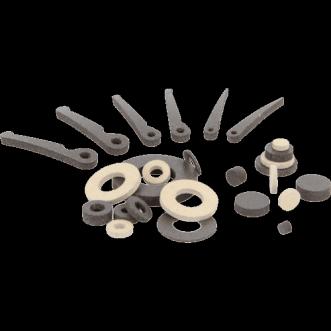 Leitfähige Scheiben, Zylinder und Federn