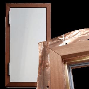 Abgeschirmtes Holz - Tür
