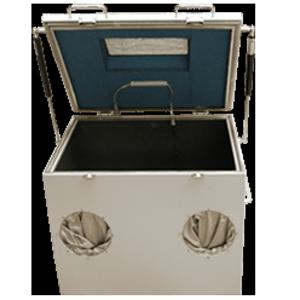 Untersuchungsbox (mit Handschuhen und Fenster)
