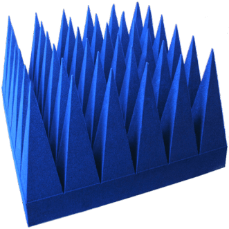 Pyramidenabsorber auf PU-Schaumbasis